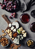 istock Cheese plate and red wine 996129562