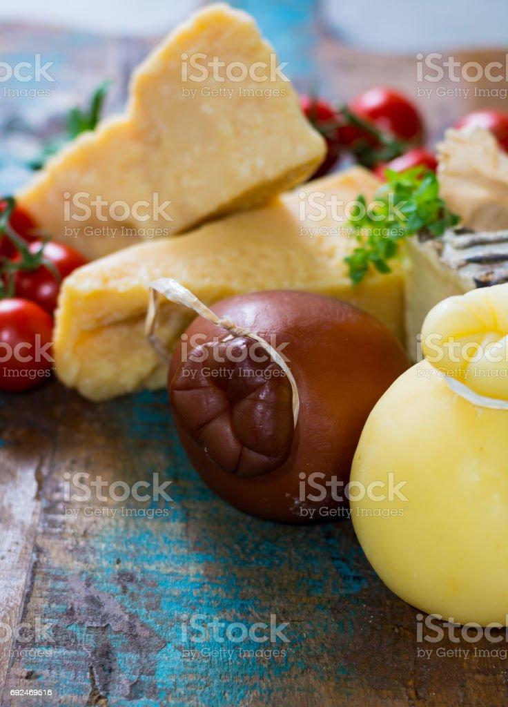 Cheese plate - Traditional Italian hard cheeses Parmesan Grana Padano Pecorino Caciocavallo & Cheese Plate Traditional Italian Hard Cheeses Parmesan Grana Padano ...
