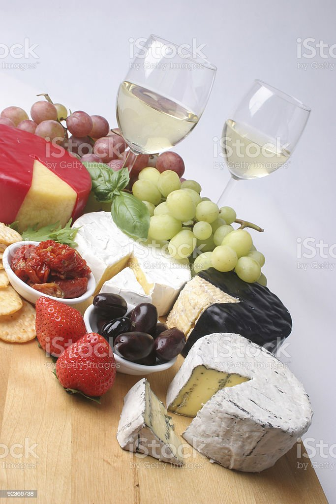 Cheese platter on an angle royalty-free stock photo
