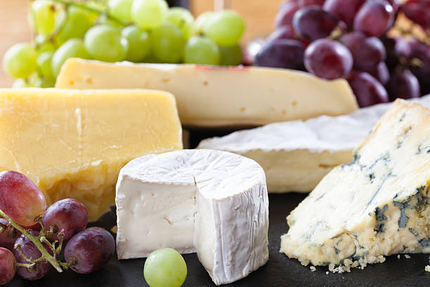 Cheese platter stock photo