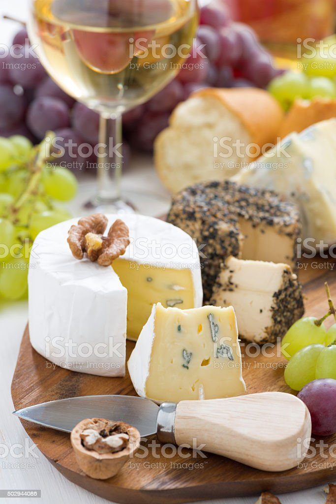 Cheese Platter Snacks Bread And Wine Vertical Closeup Stock Photo Download Image Now Istock