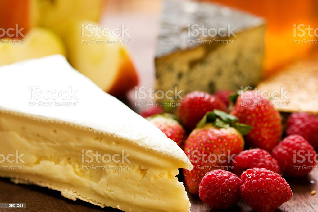 Cheese Platter with Fruit royalty-free stock photo