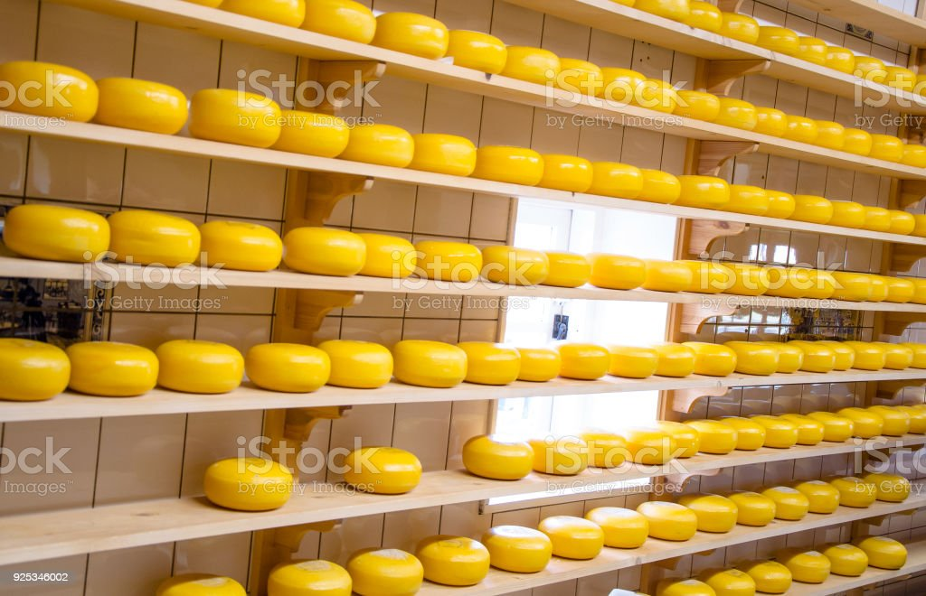 Cheese production in the countryside stock photo