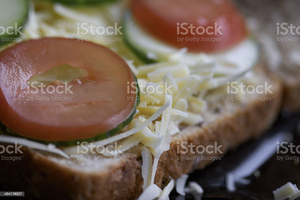 Cheese Sandwich Close Up stock photo