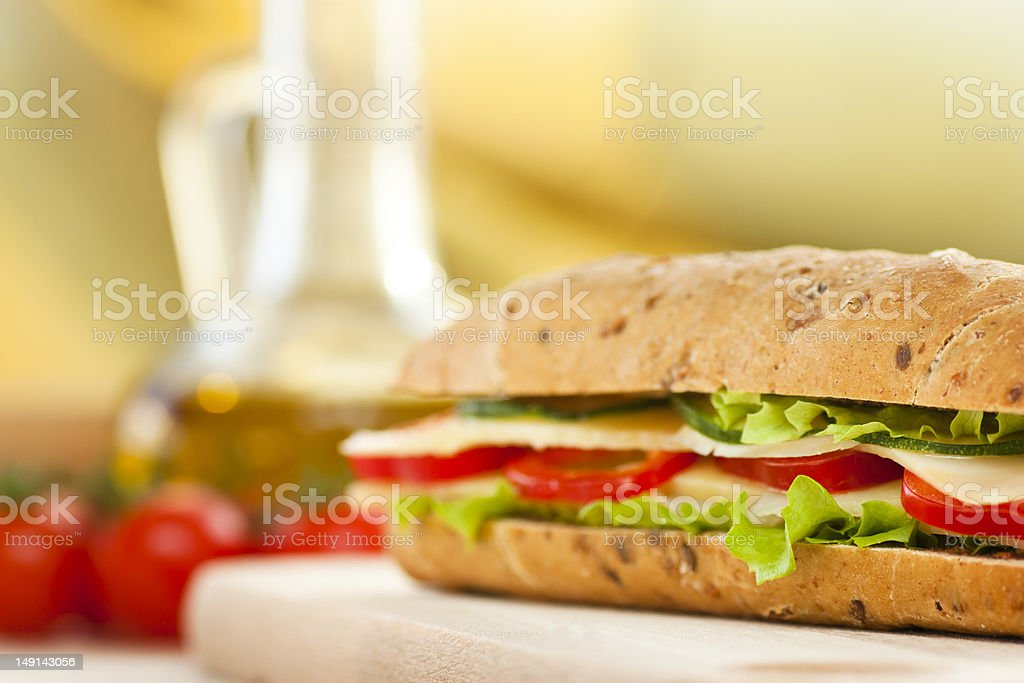 Cheese sandwich royalty-free stock photo