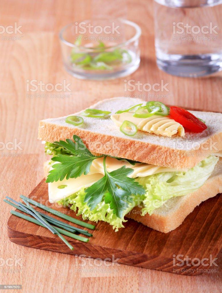 Cheese sandwich royalty free stockfoto