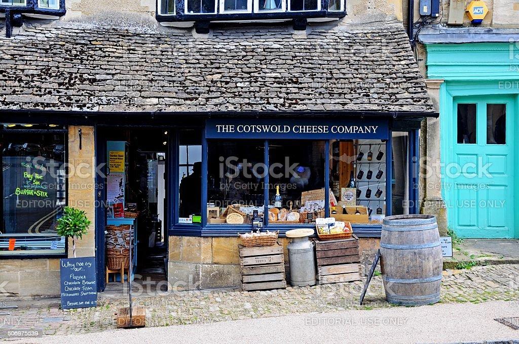 Cheese shop, Burford. stock photo