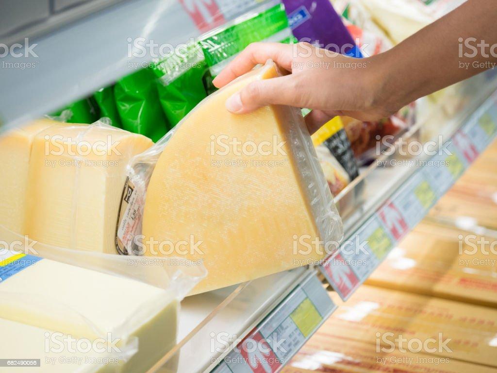 Cheese shopping royalty-free stock photo