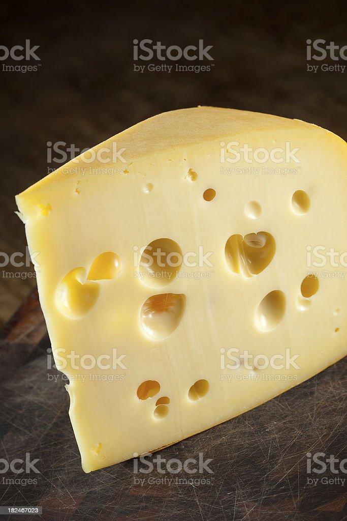 Cheese slice royalty-free stock photo