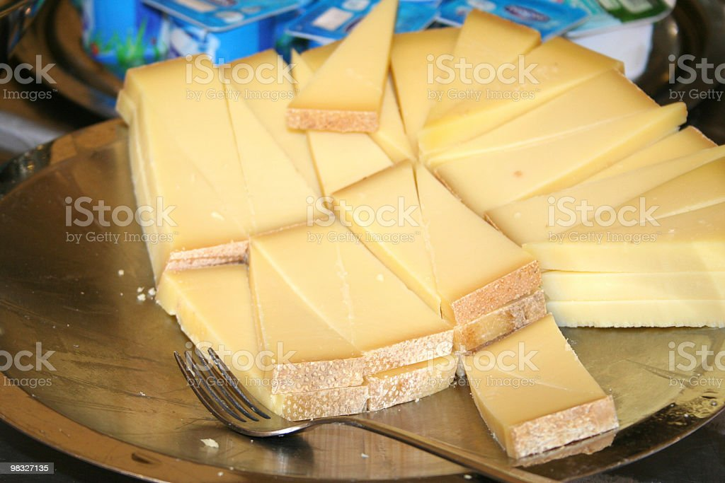 Cheese slices royalty-free stock photo