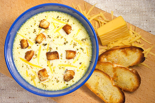 Cheese soup stock photo