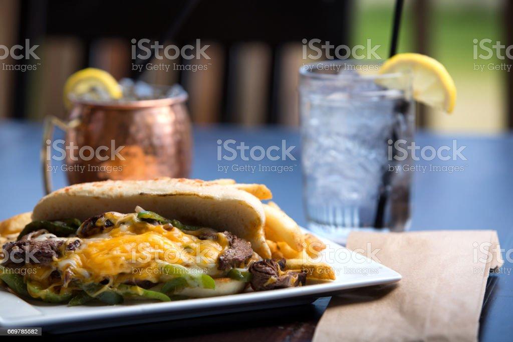 Cheese Steak Sandwich royalty-free stock photo