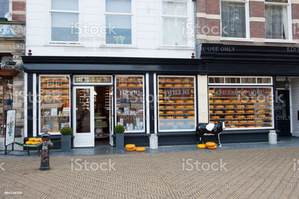 Cheese Store, Delft, Holland foto stock royalty-free