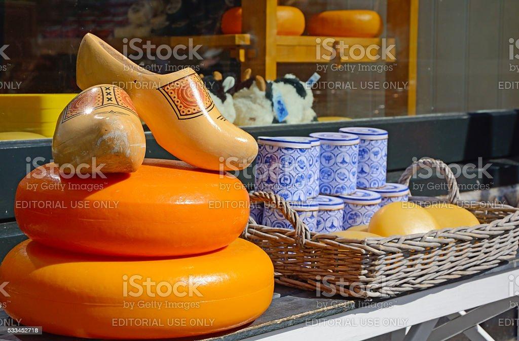 Cheese store stock photo