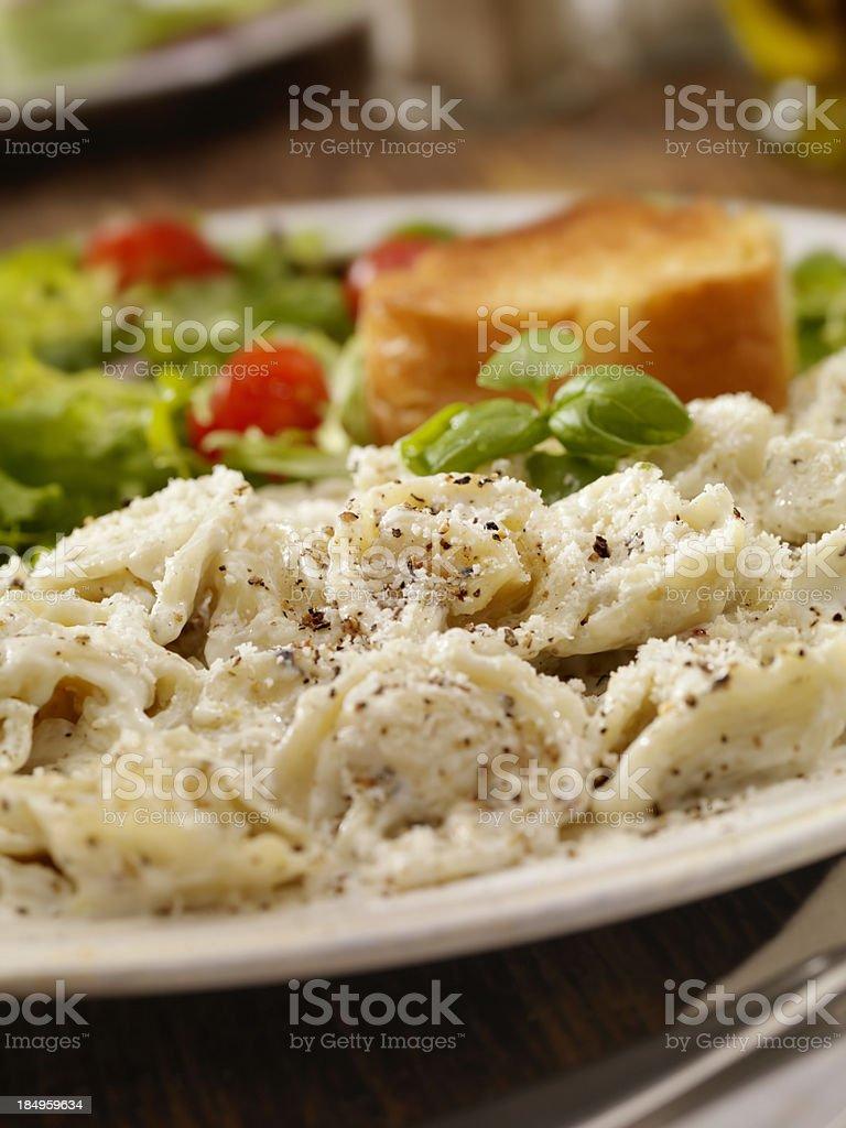 Cheese Tortellini in Alfredo Sauce royalty-free stock photo