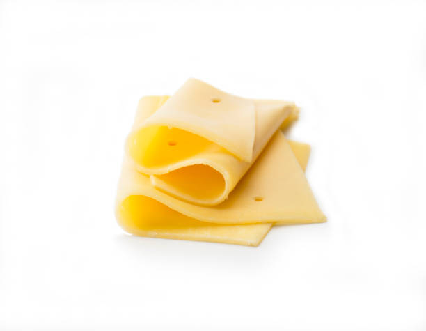 Cheese: Two Slices folded stock photo