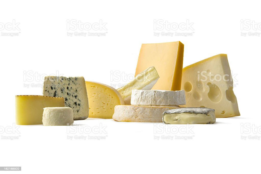 Cheese: Various Cheeses royalty-free stock photo