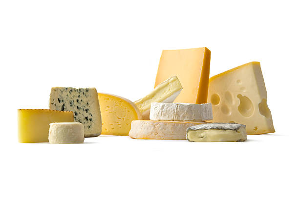 Cheese: Various Cheeses stock photo