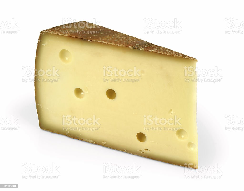 Cheese wedge royalty-free stock photo