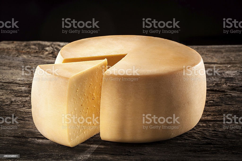 Cheese wheel royalty-free stock photo