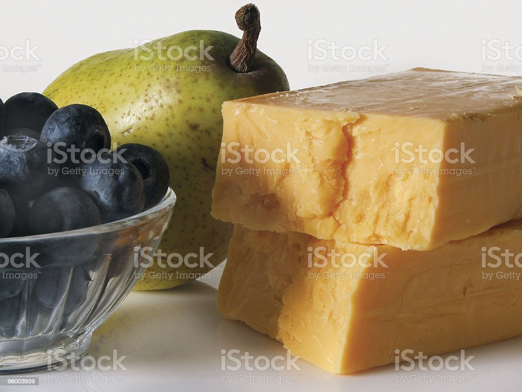 Cheese with fruit royalty-free stock photo