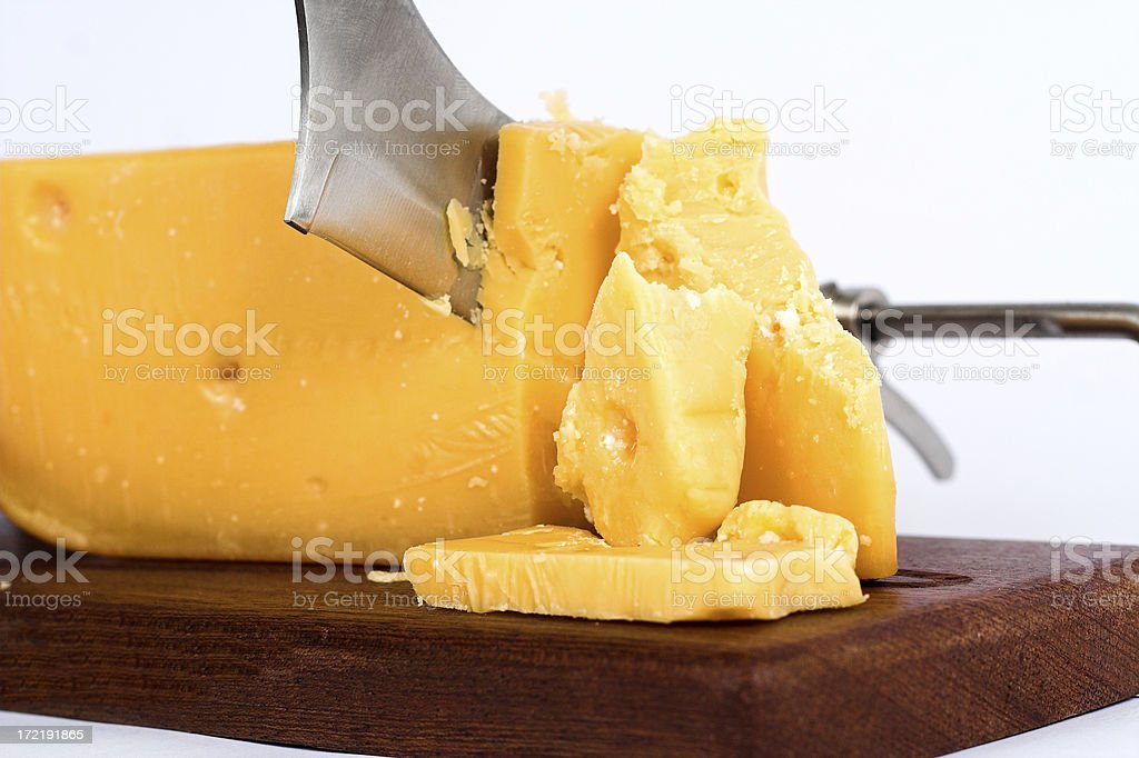 Cheese with knife royalty-free stock photo