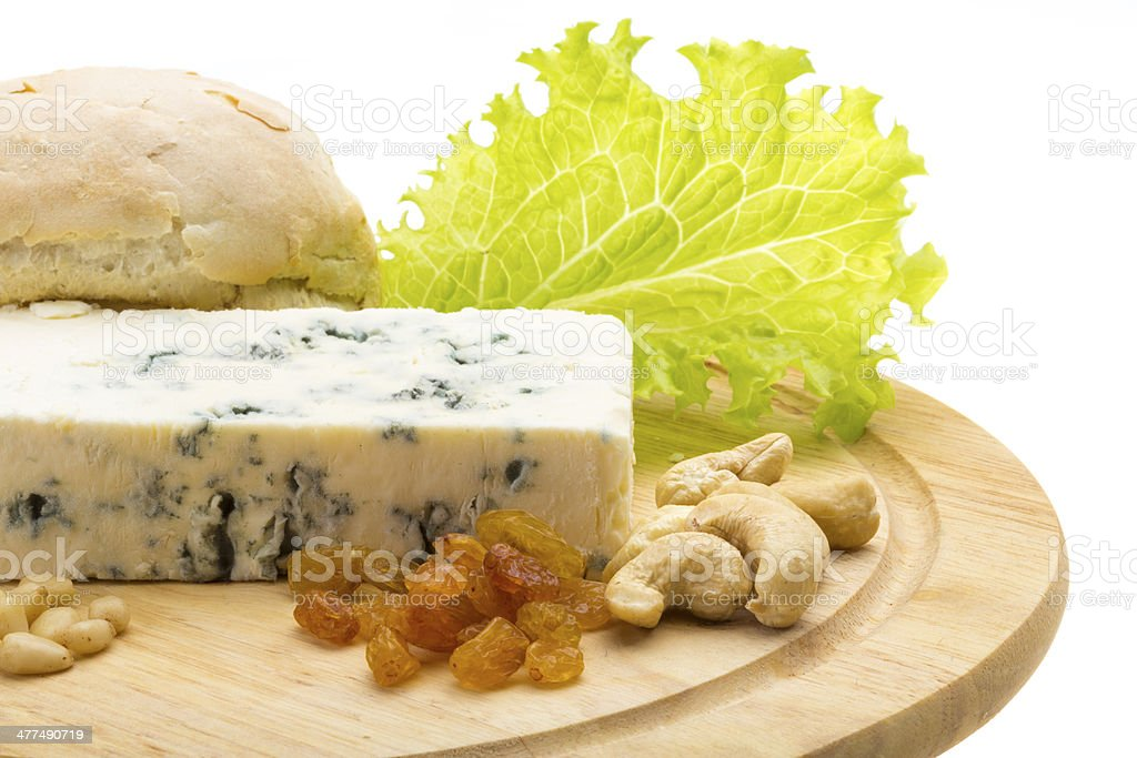 Cheese with mold royalty-free stock photo