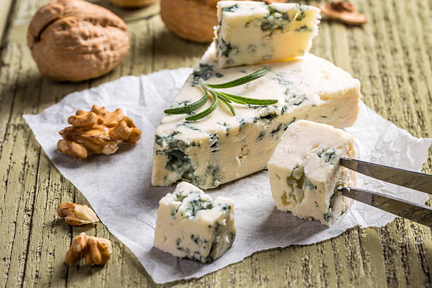 Cheese with mold stock photo