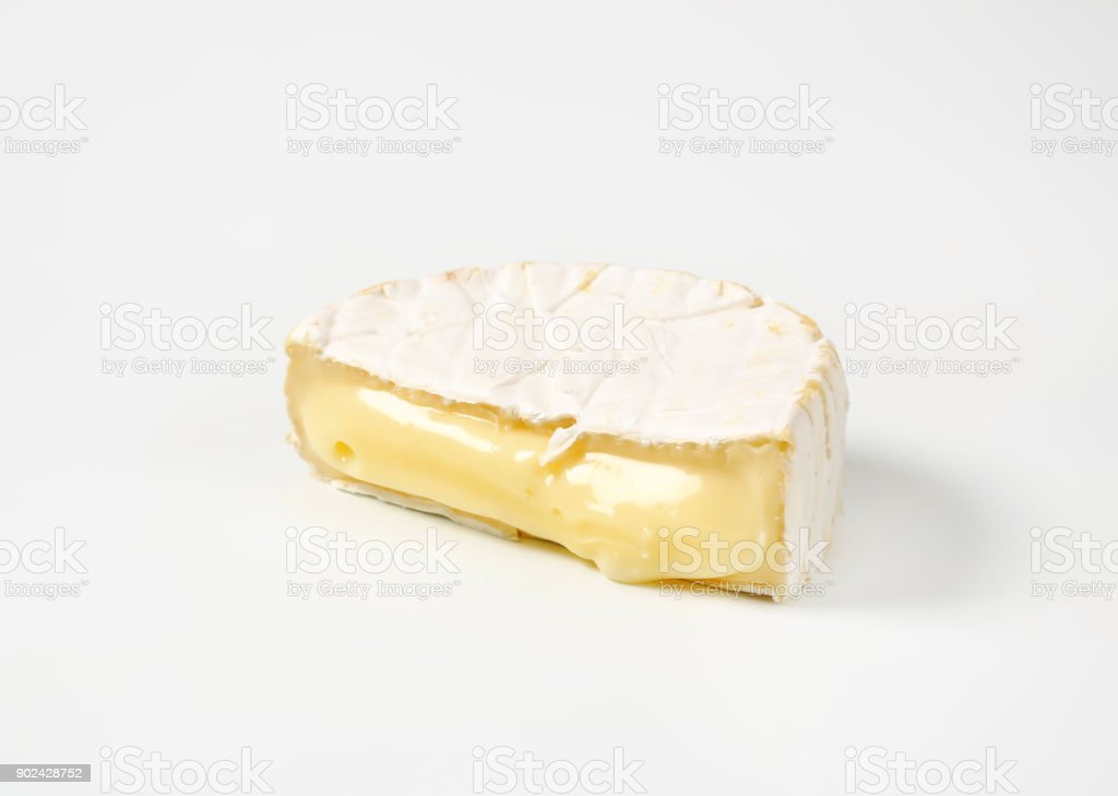 cheese with white rind stock photo