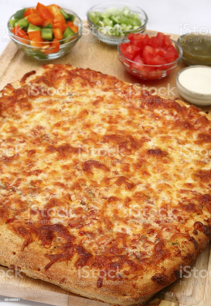 Cheesebread Pizza royalty-free stock photo