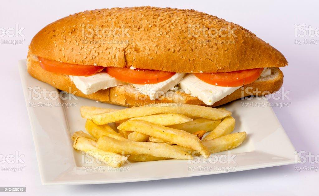 Cheeseburger-Hintergründe – Foto