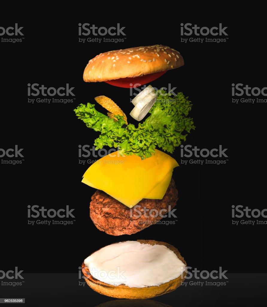 Cheesebúrguer explodiu View - Foto de stock de Alemanha royalty-free