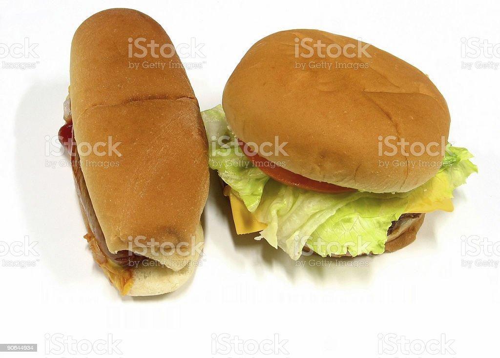 cheeseburger hot dog royalty-free stock photo