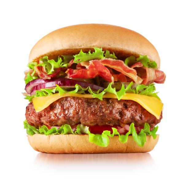 beyaz üzerinde izole çizburger - cheeseburger stok fotoğraflar ve resimler