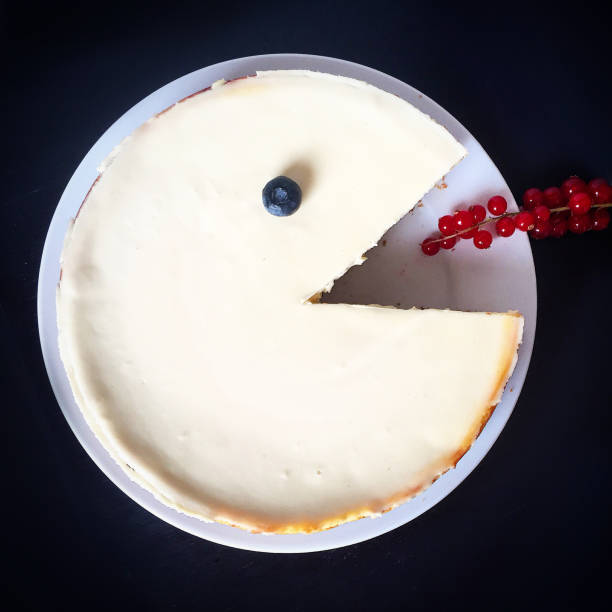 cheesecake pacman - big cake stock photos and pictures