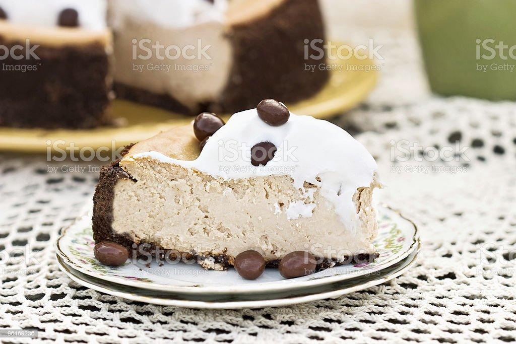 Cheesecake with Chocolate Graham Cracker Crust royalty-free stock photo
