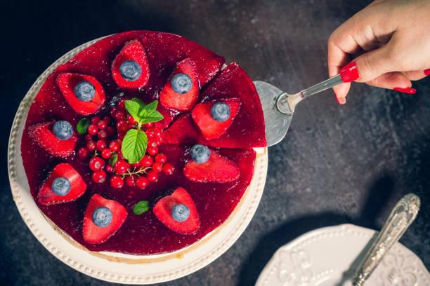 Gâteau au fromage avec des Fruits frais Berry - Photo