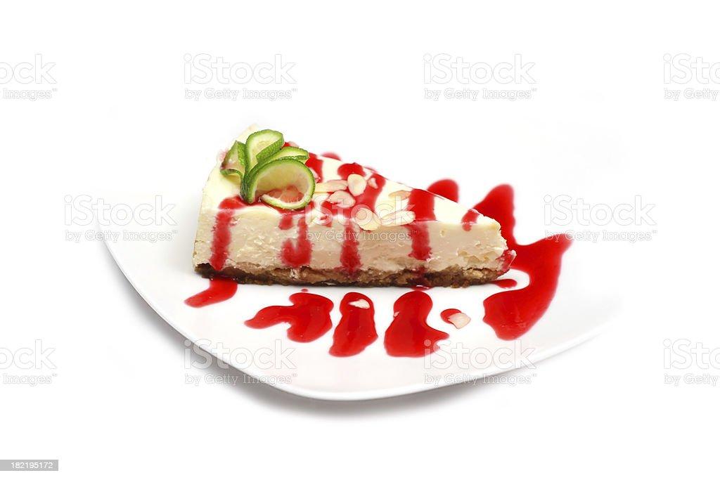 Cheesecake with lemon royalty-free stock photo