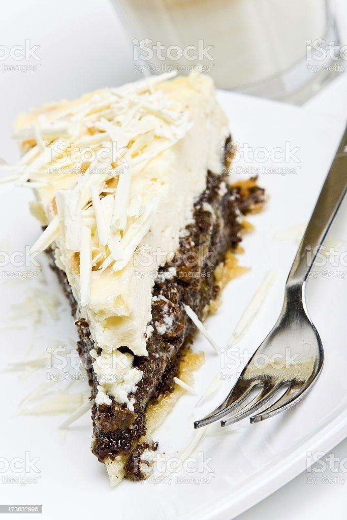 cheesecake with poppy royalty-free stock photo