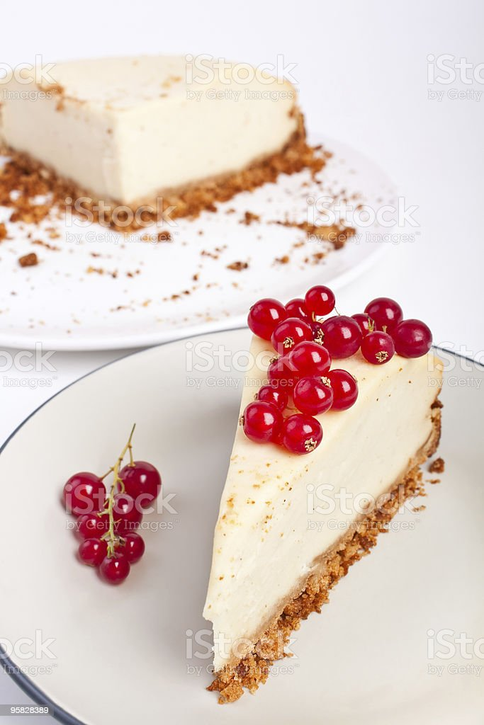 cheesecake with red currant royalty-free stock photo