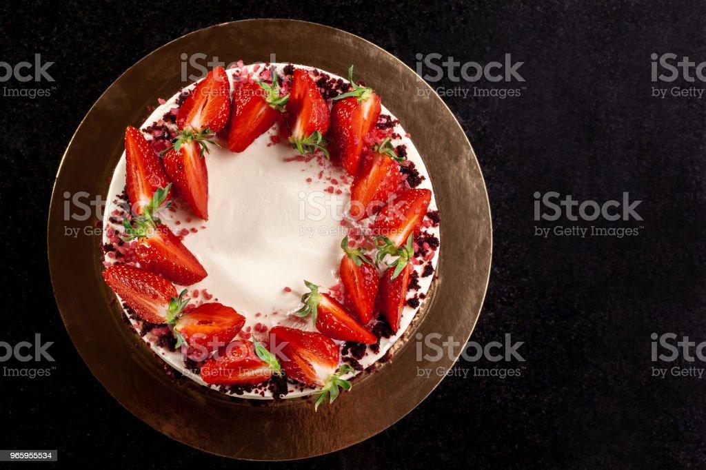 Kasekuchen Mit Erdbeeren Kuchen Mit Erdbeeren Verziert Lecker