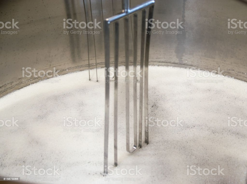 cheesemaking shop stock photo