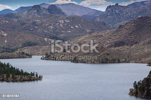 Near Deckers, Colorado.  Cheeseman Lake was the site of the Hayman Fire several years ago.