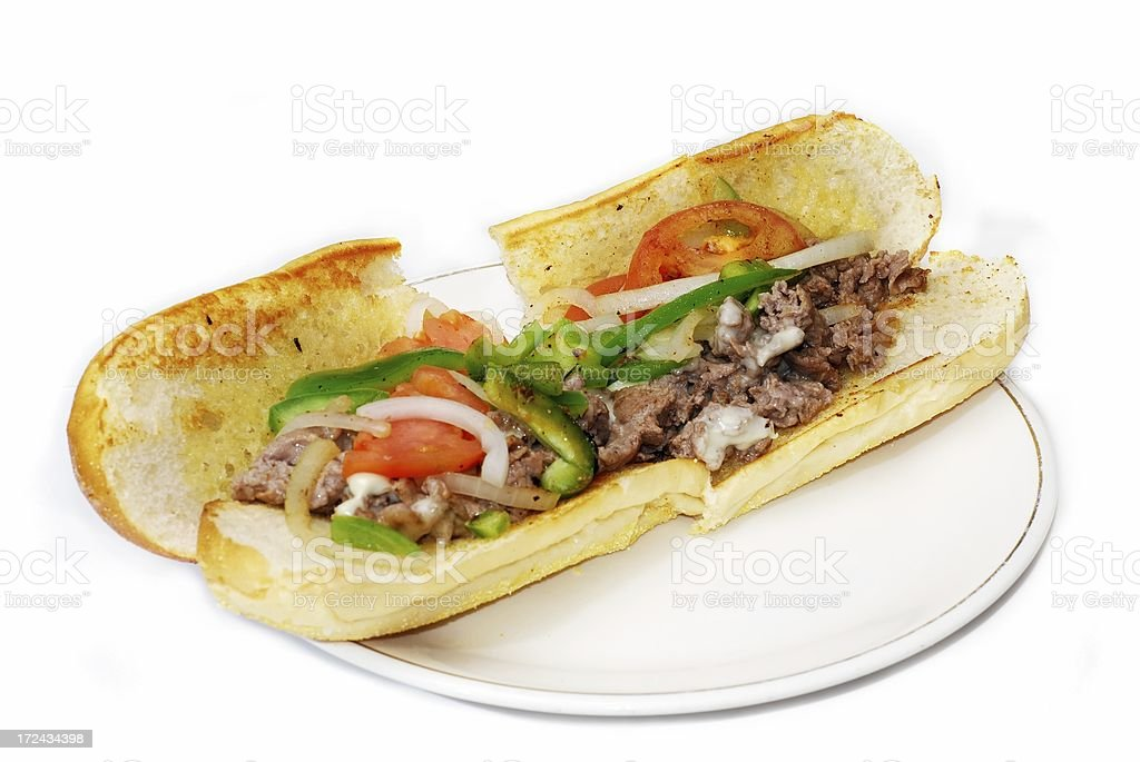 cheesesteak royalty-free stock photo