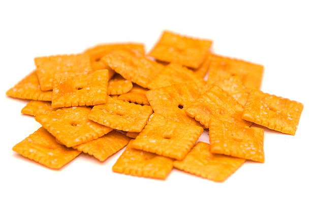 Cheesy Crackers stock photo