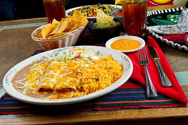 Vulgar Enchiladas de - foto de stock