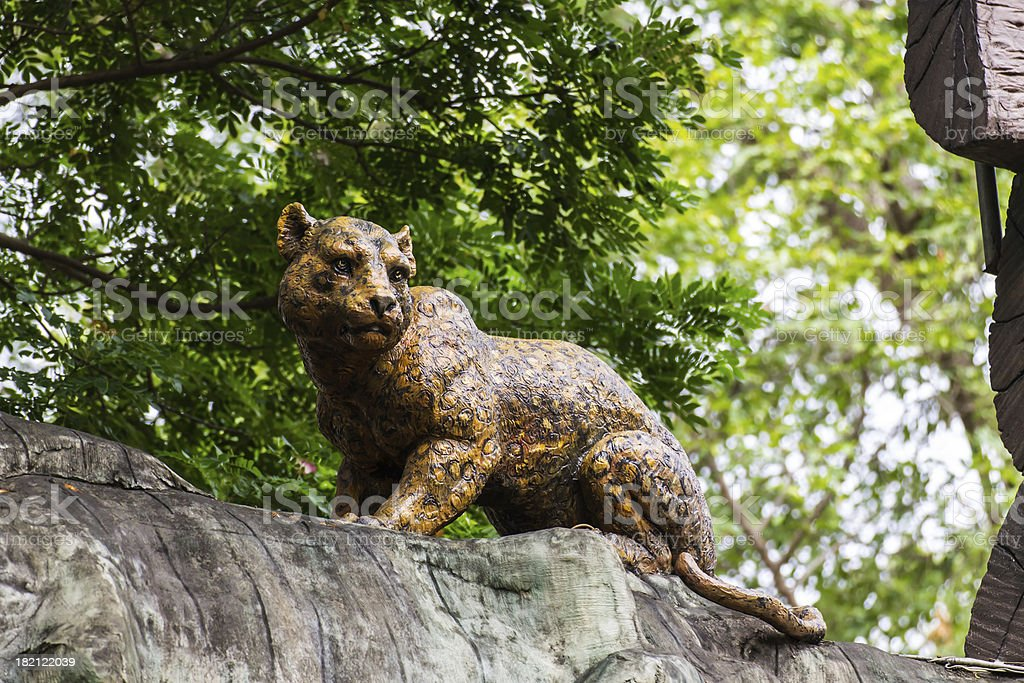 cheetah Statue royalty-free stock photo