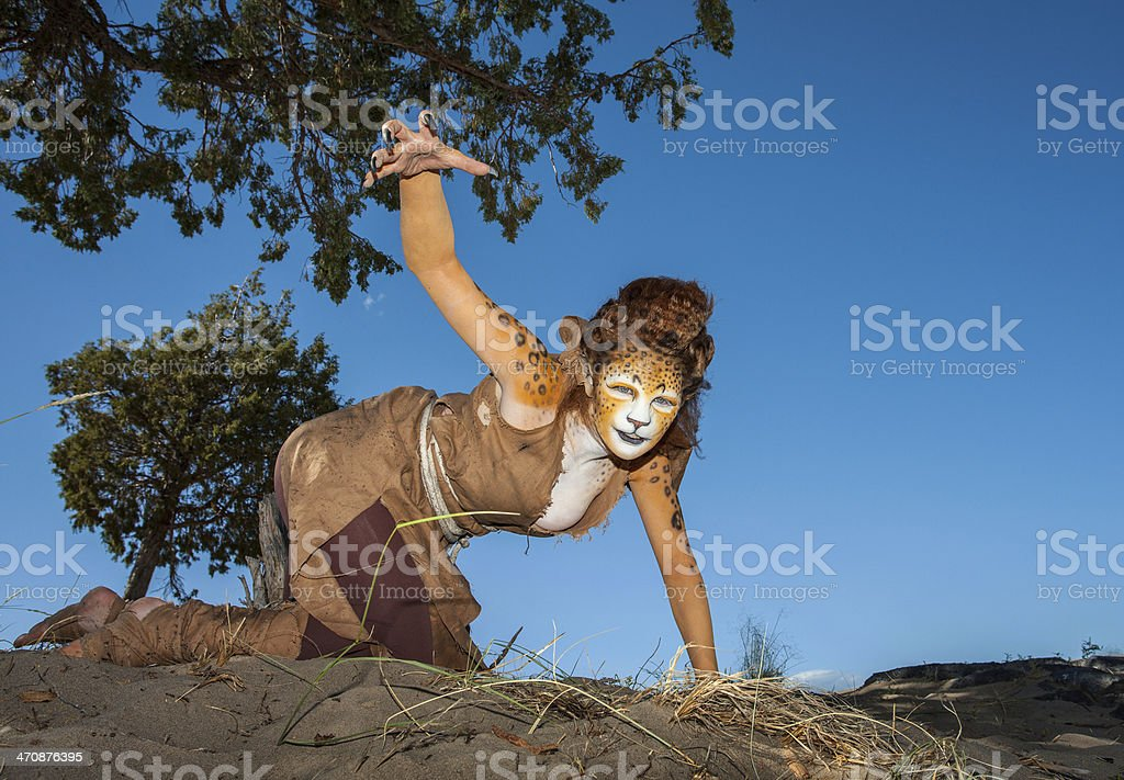 Cheetah Woman royalty-free stock photo