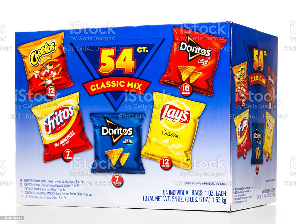 Cheetos Doritos Fritos and Lay's 54 classic mix box stock photo