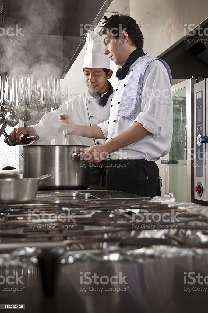 Chef and Trainee royalty-free stock photo